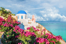 Landscape With Church In Oia, ...