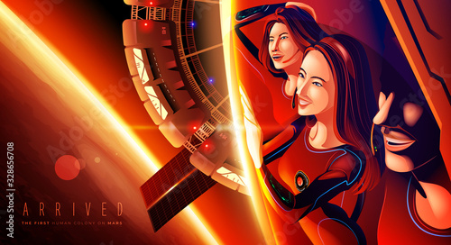 The first human colony on Mars Tablou Canvas