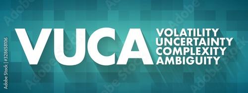 Vászonkép VUCA - Volatility, Uncertainty, Complexity, Ambiguity acronym, business concept