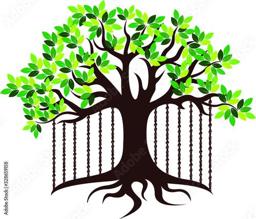 Photo banyan tree logo
