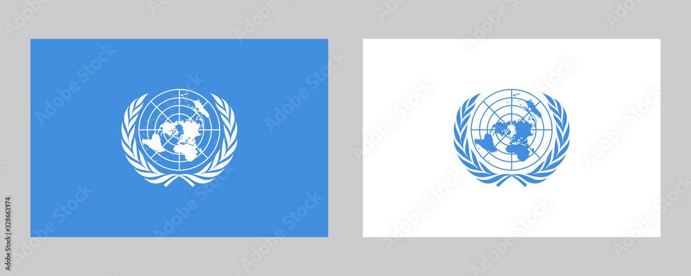 Fototapeta United Nations Official Flag Vector Illustration