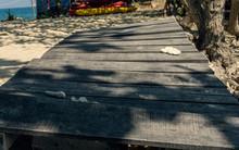 White Coral On A Wooden Bridge...