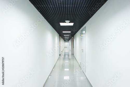 Carta da parati Interior internal corridor of modern office, industrial premises, laboratories or institutions