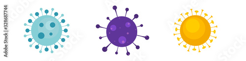 Photo Virus, bacteria, microbes icon