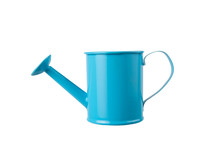 Blue Watering Can With Handle ...