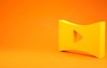 Yellow Online Play Video Icon ...