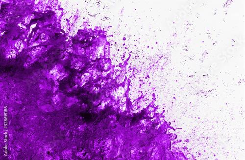 Esplosione con schizzi di liquido viola Wallpaper Mural