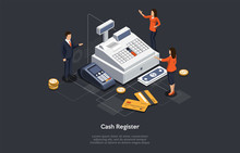 Isometric Cash Register Concep...
