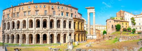 Antique architecture of Rome Canvas Print