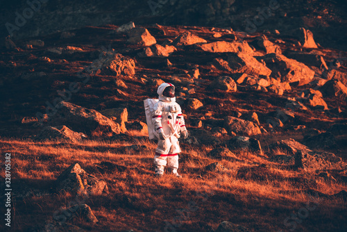 Astronaut exploring a new planet Poster Mural XXL
