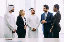 Mixed Business Team In Dubai. ...