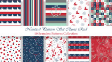 Nautical Pattern Set Inspired ...