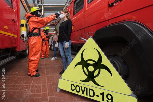 Fotografie, Obraz Corona Virus Pandemie ist ausgebrochen