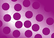 Purple Circles Connected To Ea...