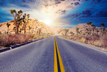 Asphalt Road In The Middle Of ...