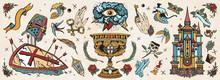 Medieval Old School Tattoo Col...