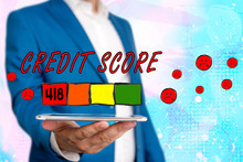 Text Sign Showing Credit Score...