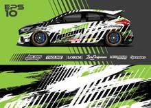 Car Wrap Racing Livery Vector....