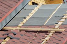 Installing Flexible Roof Tiles...