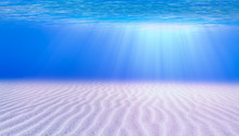 Blue Sea Or Ocean Water Surfac...