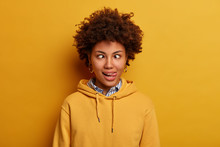 Photo Of Funny Young Woman Has...