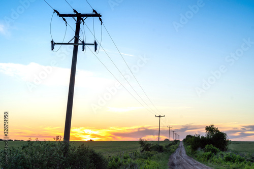 Obraz Rural electrification is the process of bringing electrical power to rural and remote areas.  - fototapety do salonu