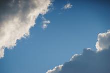 Large White Cumulus Clouds Aga...