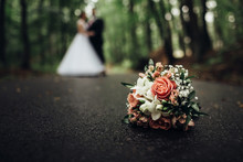 Beautiful Wedding Bouquet Lyin...
