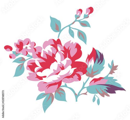Vintage style floral vector illustration Wallpaper Mural