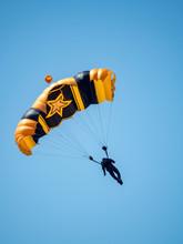 Army Parachutist At Air Show