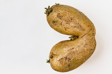 The Tuber Of A Potato On A Dec...