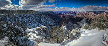 Grand Canyon With Freshly Fallen Snow In The Arizona Desert
