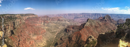 Panoramic view of the Grand Canyon near Bright Angel: Life in the Arizona Desert