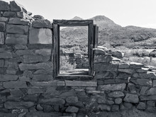 Old Sandstone Cabin Window At ...
