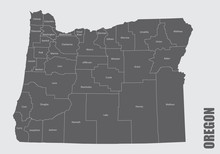 The Oregon State Counties Map ...