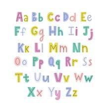Colorful Hand Drawn Alphabet W...