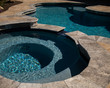 canvas print picture - Travertine pool and spa