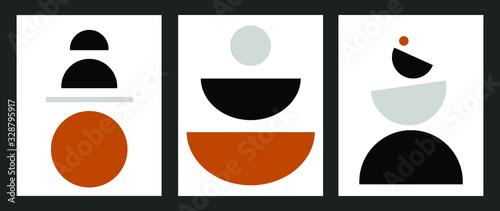 minimalist geometrical abstract art mid century modern style simple color palett Canvas Print