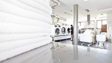 Big Industrial Laundry Washing...