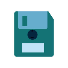 Isolated Diskette Flat Style I...
