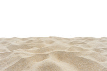 Beach Sand Isolated On White