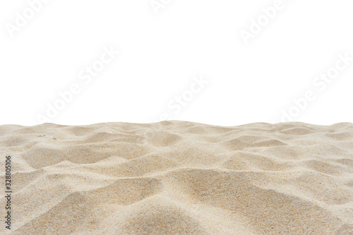 Canvastavla beach sand isolated on white