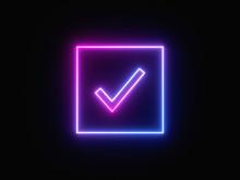 Blue And Purple Neon Light Ico...
