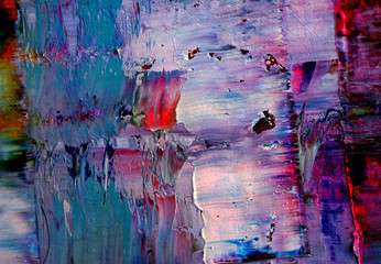 Colorful oil paint texture abstract background.