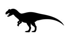 Vector Allosaurus Silhouette