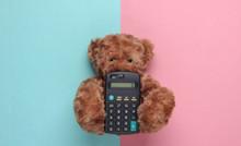 Teddy Bear Is Holding A Calcul...