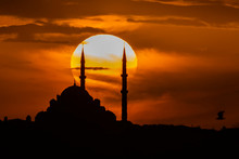 Fatih Mosque At Sunset, Istanb...
