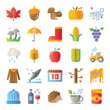 Autumn Gradient Vector Icons