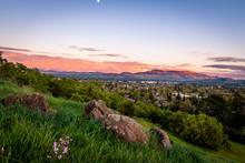 Dinosaur Hill Park At Sunset