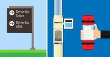 Pneumatic Tube Drive Up Thru Through Bank Cash Air Car Lab Pay ATM Bill Easy Fast Lane RFID Loan Road Sign Slip Debt Flow Ward Drug Send Teller Nurse Quick Check Clinic Speed Tunnel Sample Withdraw
